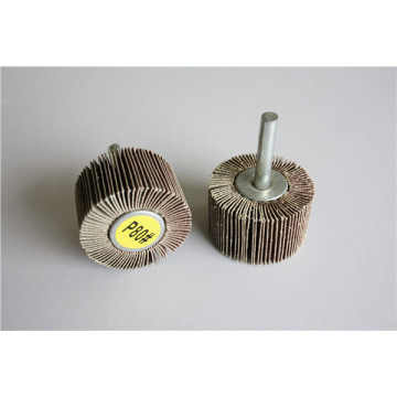 Aluminium Oxide Abrasive Flap Wheel with Shaft for Polishing