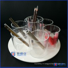 Spinning / Rotating Acrylic Cosmetic / Makeup Organizer Brush Holders