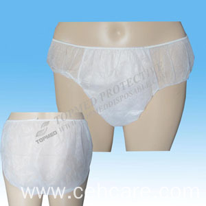 Disposable Briefs Nonwoven T-Briefs with Lace, Sanitary Brief Disposable with Ce FDA ISO