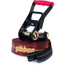 50MM Polvo Negro Recubrimiento 6600LBS Doble Cerradura de Seguridad Gibbon Slackline Trinquete