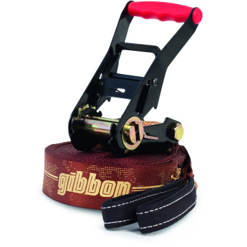 50MM Black Powder Coating 6600LBS Double Security Lock Gibbon Slackline Ratchet