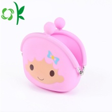 Custom Silicone Cute Clip Coin Purse Poach Partihandel