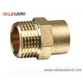 Brass screw Fitting with Nickel or Chrome Plated