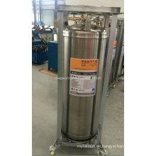 DOT Standard 175L Vertikal geschweißte isolierte Dewar Flask Cryogenic Zylinder für Lar Speicherzylinder mit Rad