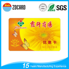 Plastic PVC Supermarket Gift Card VIP Card