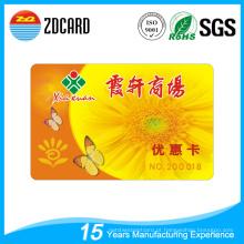 Plástico PVC Supermercado Gift Card Cartão VIP
