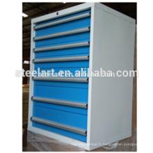 Armoire à outils 4 tiroirs avec serrure centrale / armoire à rouleaux