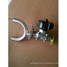 Válvula de diafragma sanitária para farmácia aço inoxidável