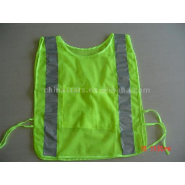 100%polyester High visibility warning reflective safety cyclist vest