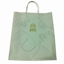 White Kraft Paper Bag with Paper Handle