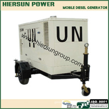 380V AC three phase 30kw trailer diesel generator