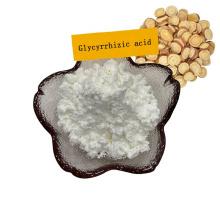 Suministro de fábrica Ácido glicirrícico 98% Extracto de raíz de regaliz en polvo 1405-86-3 Edulcorante