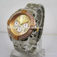 2015 nova marca de relógio de metal relógio de aço inoxidável (150180)