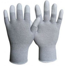 White PU Coated Work Safety Glove Nmsafety Palm Fit PPE