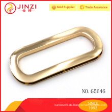 Zinklegierung helles Gold kundenspezifische lederne Beutel-Hardware