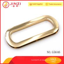 Alumínio de liga de zinco ouro personalizado hardware saco de couro