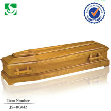 Fabricante chinês padrão europeu de punhos de madeira para forro de caixão