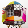 Eames Full Fabric Covered Armchair with Wood Leg