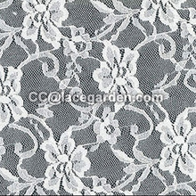 White Color Stretch Lace Fabric
