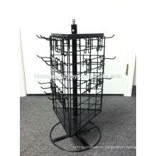 3-Сторонняя Блесны Съемный Черный Мерчендайзер Крюк Провода Металла Вращая Стеллаж Для Выставки Товаров Countertop