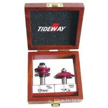 2 Set Red Painted Router Bit Sets, Silver Welding Or Copper Welding