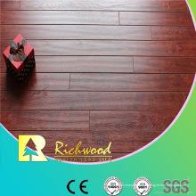 Plancher stratifié imperméable de stratifié de Hickory de relief de 12.3mm AC4 commercial