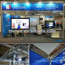 diseño de stand de feria portátil y modular con reproductor multimedia HD de Shanghai China