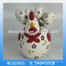 Venta al por mayor de pascua de la decoración de cerámica de fruta conjunto de horquilla
