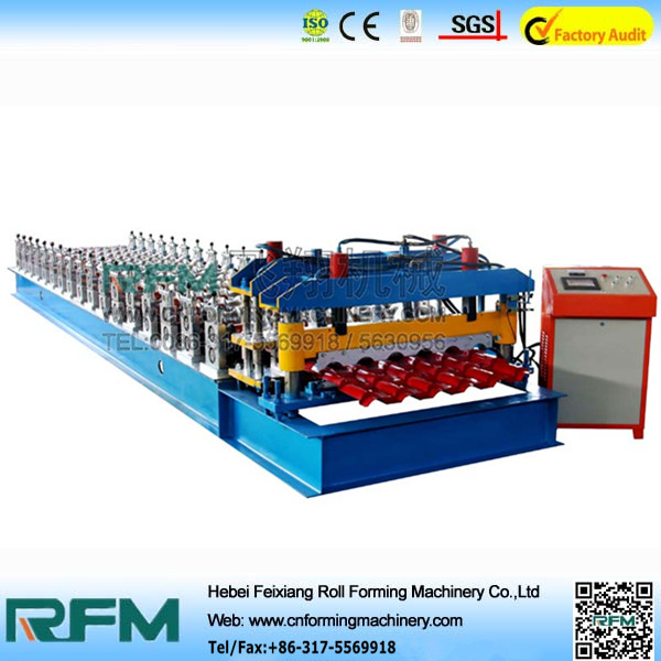 Steel metal sheet glazed tiles rolling machinery