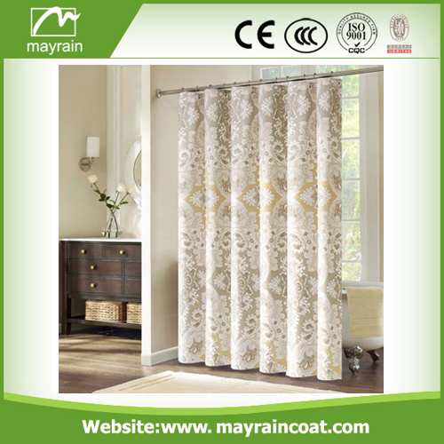 Sliver Glass Shower Curtain