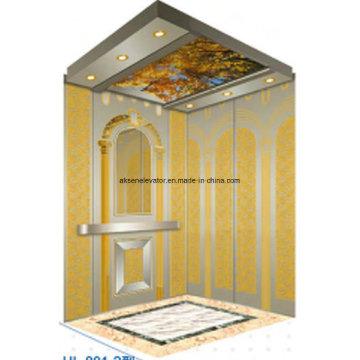 Passagier Aufzug Aufzug Startseite Aufzug Aufzug Gold Spiegel Radierung Hl-X-044