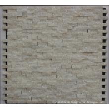 8mm weißer Stein Mosaik Fliese