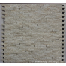 Carrelage en mosaïque en pierre blanche de 8 mm