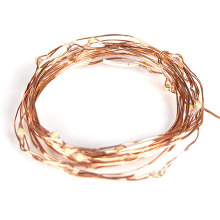 Quente branco mini LED fio fio de cobre luz