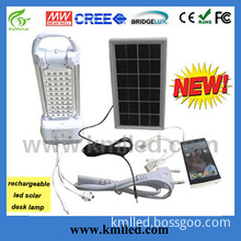 4 Interface Mobile Phone Charger Rechargeable Solar LED Desk Light