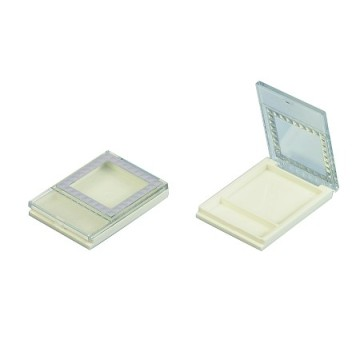 Square White Compact Powder Container