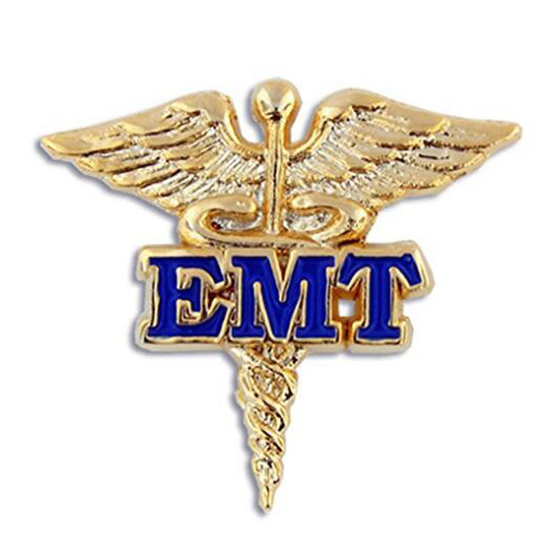 Gold And Blue Medical Enamel Lapel Pin