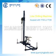 Línea móvil neumática perforadora para la perforación de la mina de piedra