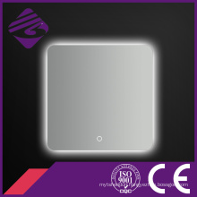 Square Touch Screen LED Backlit Chamfered Edge LED Bathroom Mirror
