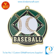 Professional Customized High Quality Gold Plating Baseball Medal with Soft Enamel