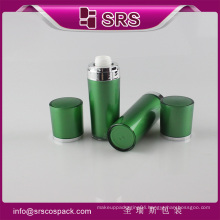 Green color lotion pump bottle free samples for sale