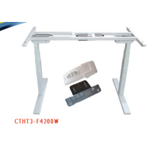 American ashly furniture adjustable height office desk hardware with 2 legs lifting column