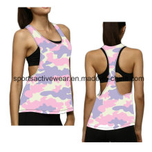 Venta al por mayor Sexy Sexy Girl Stringer Blanco Tight Women Tank Top