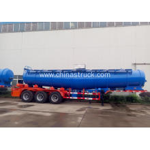 3 axle 21m3 strong sulfuric acid tank