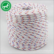 Alta resistencia al desgaste 3 strand PP danline cuerda para marine