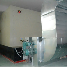 Wind power electric central heating boiler