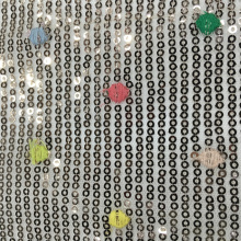 Dot Pattern con tessuto da ricamo paillettes 3mm