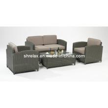 Patio Wicker Lounge Sofa Set Rattan Garten-Möbel