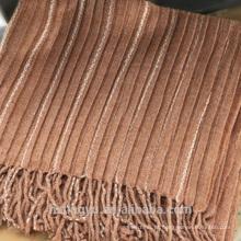 2017 novo estilo Witner fade cashmere stripe pashmina dobra borlas xale lenço borla