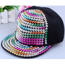 stylish diamond colorful cheap snapback cap custom rivet studed hip hop cap unisex flat brim Men baseball cap